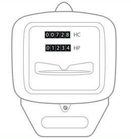 Compteur lectrique comment faire sa rel ve d 39 index engie - Compteur edf heure pleine heure creuse ...